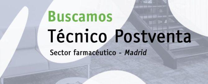 Buscamos técnic@ post venta (Madrid)